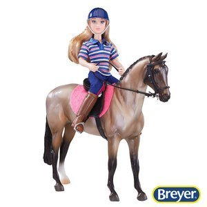 61114 Breyer Classics English Rider and Horse Set